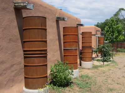 Kitchen Garden & Coop Tour 2014 - Fashionably Rusty Rain Barrels