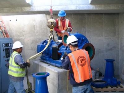 New Canyon Road Hydropower Turbine installation