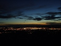 Santa Fe City Lights at Dusk