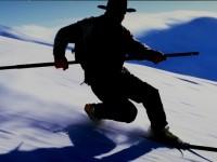 Telemark Skier with lurk