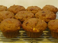 Spiced Persimmon and Walnut Muffins