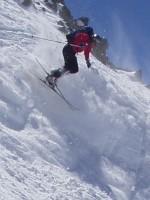 David telemarking at Silverton Mountain