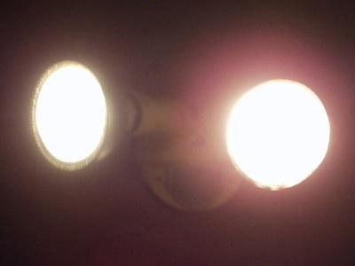 LED (left) & Halogen (right) floodlights