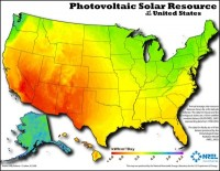 NREL Solar Photovoltaic Resource Map